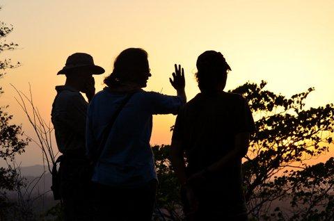 With colleagues at Rajaji National Park, photo credit Harish Prakash